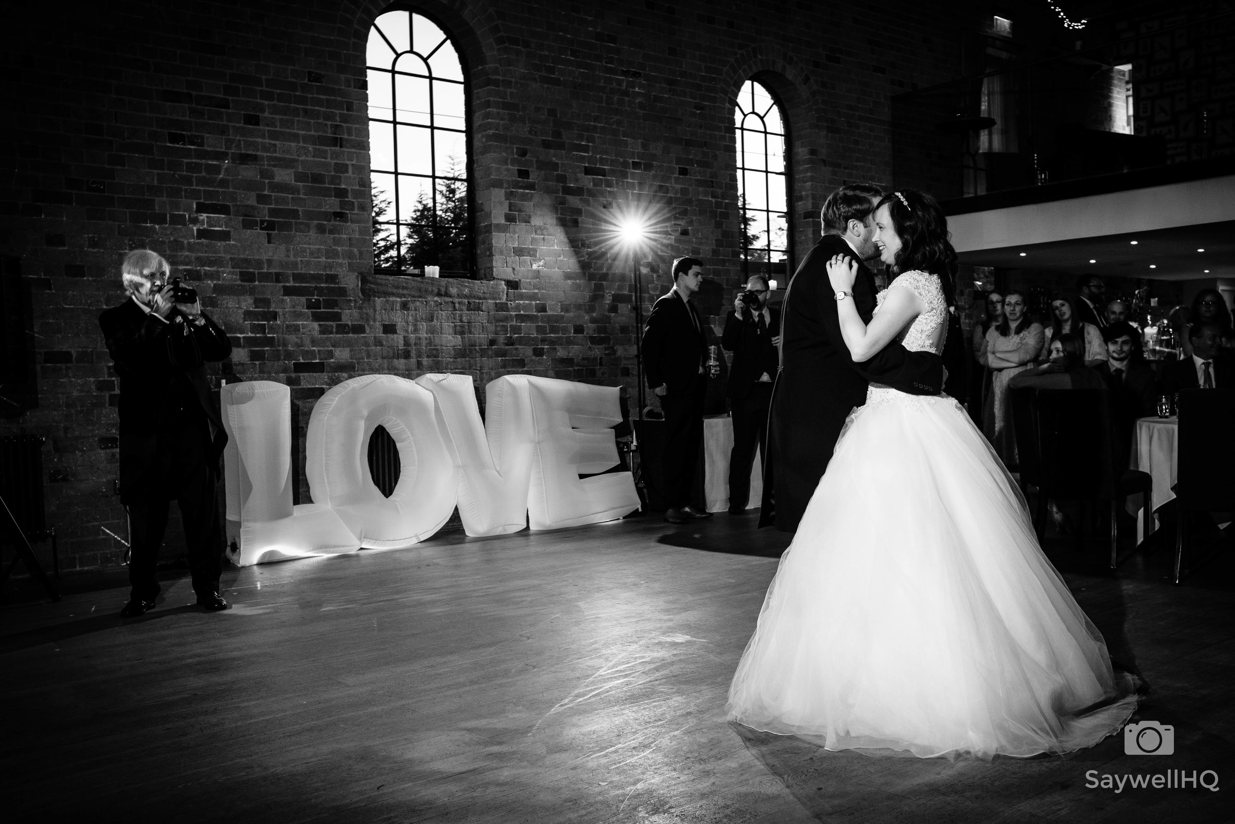 Wedding photography at St Marys Church Nottingham - bride and groom first dance