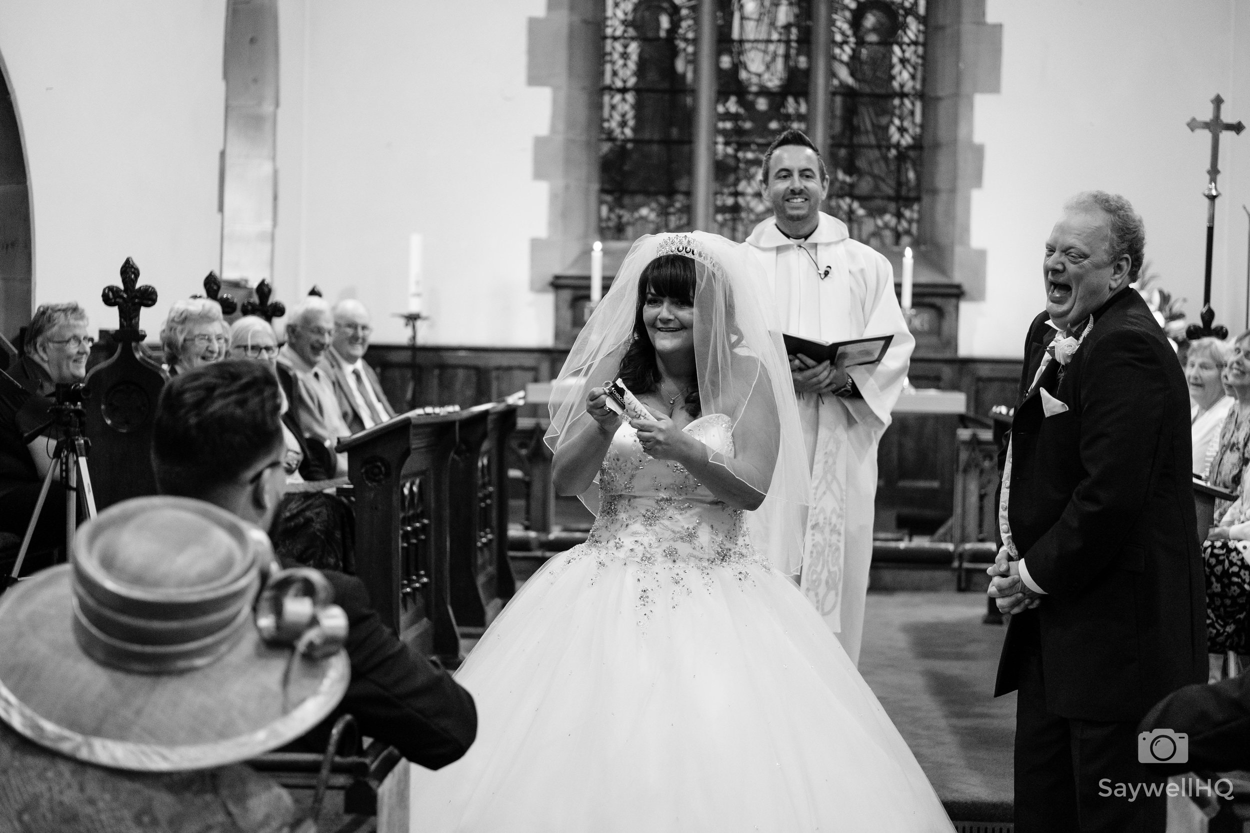 bride and groom at Wedding Photography at St Andrew's Church