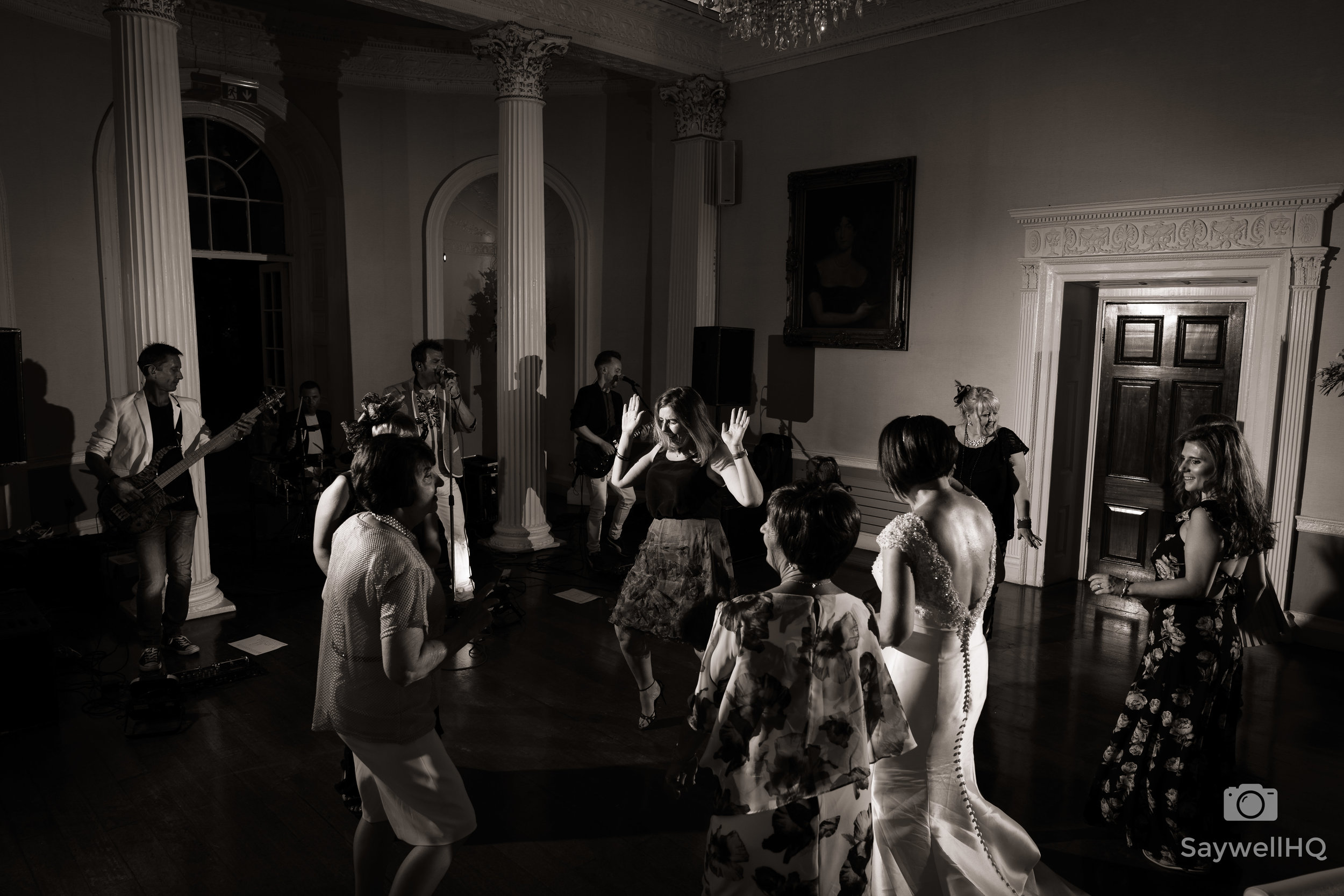 Disco Wedding photography at Colwick Hall