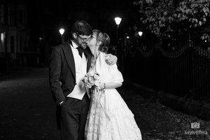 Claire and Josh were married in a cozy family and friends wedding ceremony at The Belmont Hotel in Leicester.