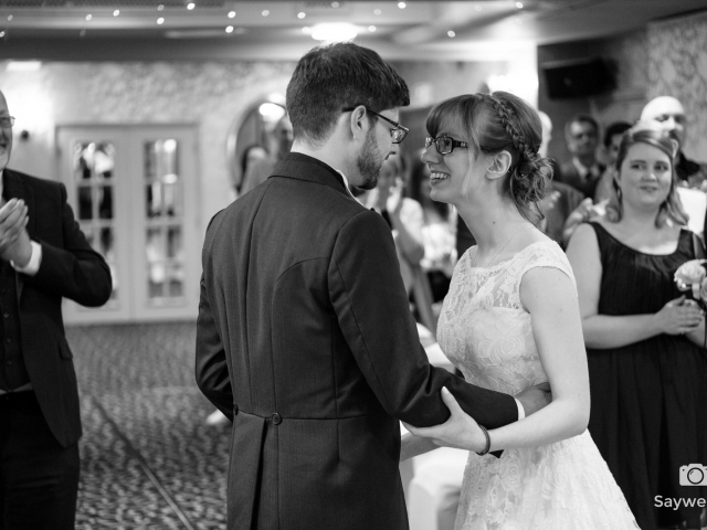 Wedding at The Belmont Hotel in Leicester - Bride and Groom after the wedding ceremony