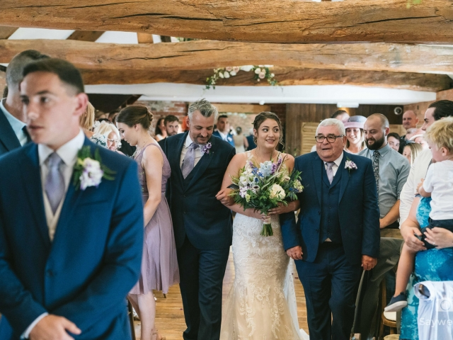 Swancar Farm Wedding Photography bride and her father walking down the aisle