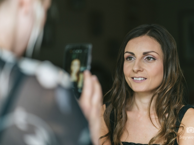 Swancar Farm Wedding Photography bridesmaid getting the makeup done