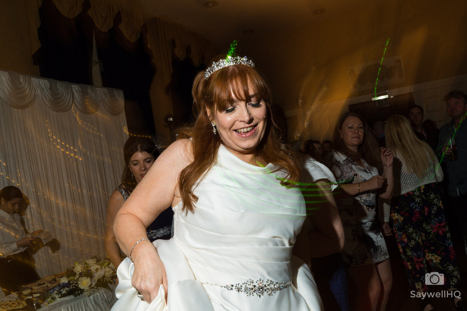 Wedding Photography at Bestwood Lodge – bride dancing at the Bestwood Lodge Hotel