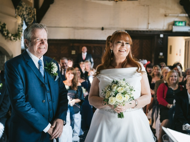 bestwood lodge wedding photography bride and groom during the wedding ceremony