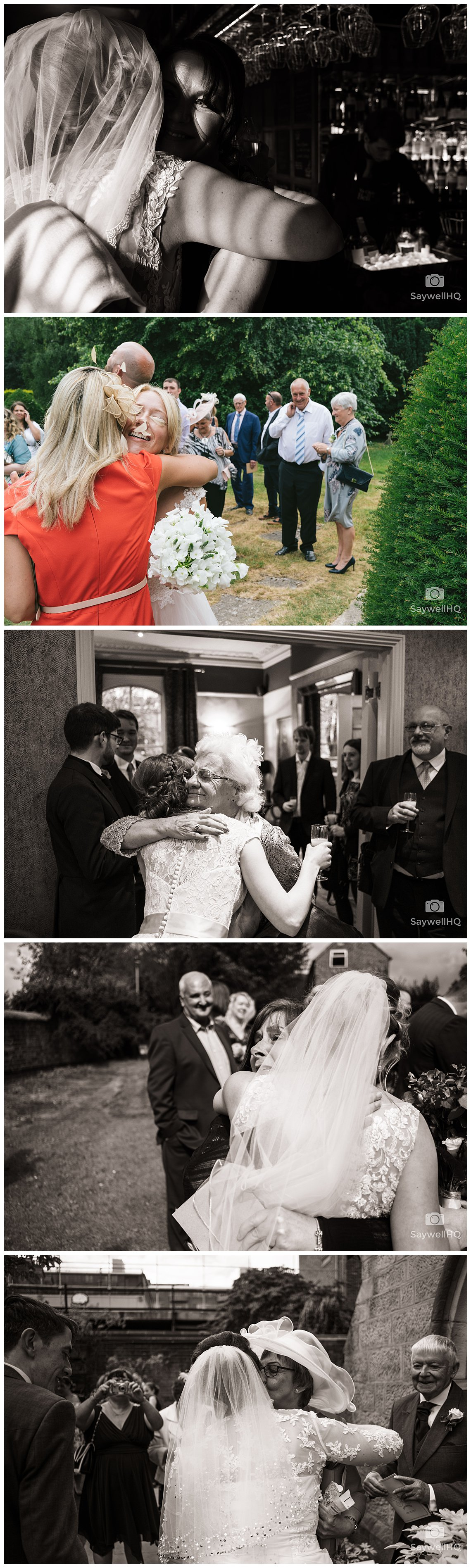 Nottingham wedding photography - emotional wedding hugs