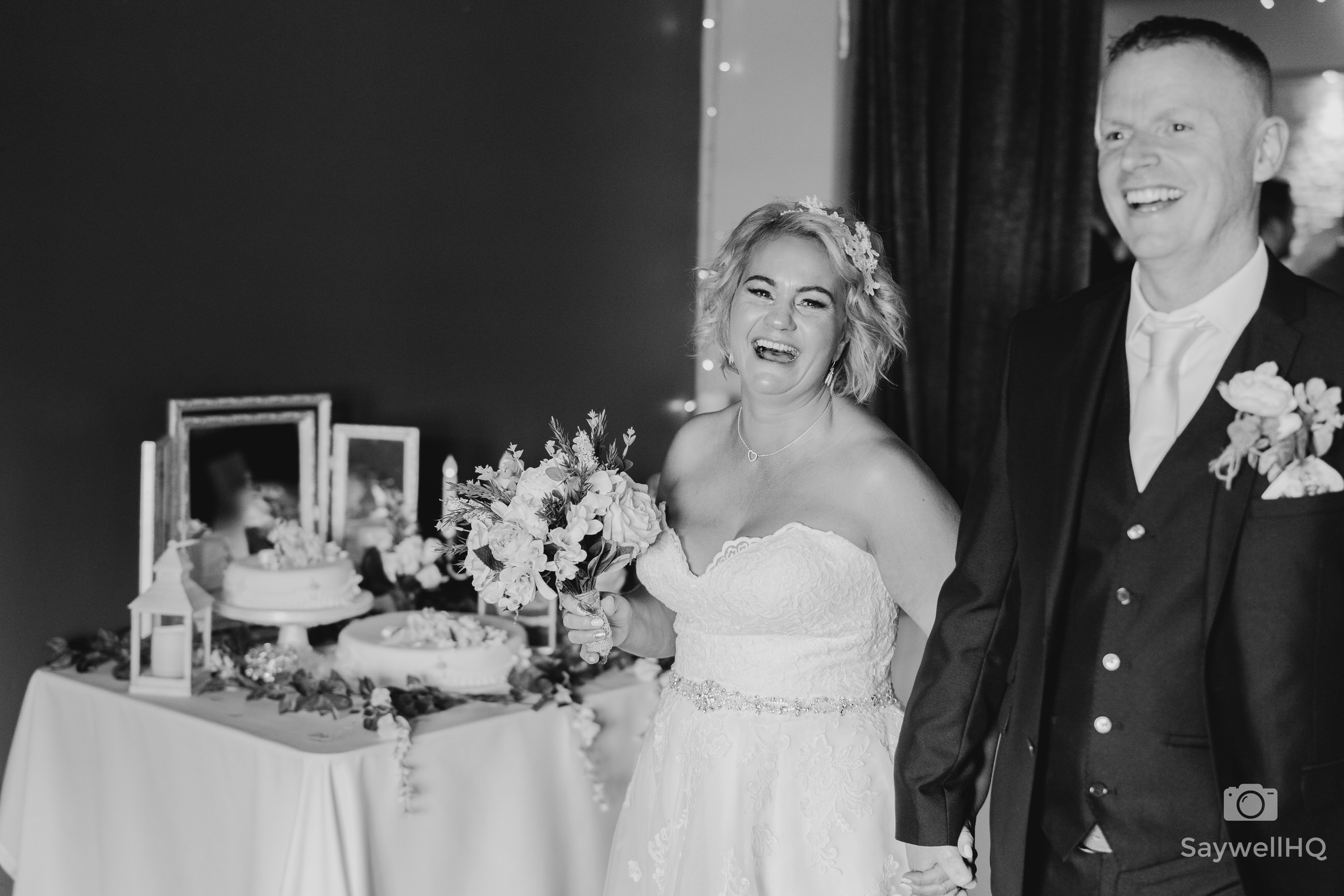 Brewhouse & Kitchen Nottingham Wedding Photography - bride and groom leaving the wedding reception