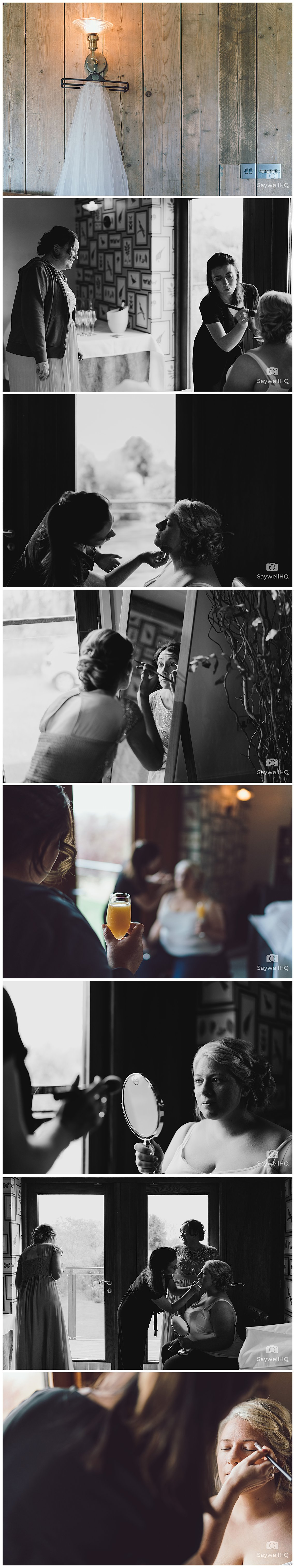 Wedding photography at The Carriage Hall - Bride gets ready at carriage hall for her wedding