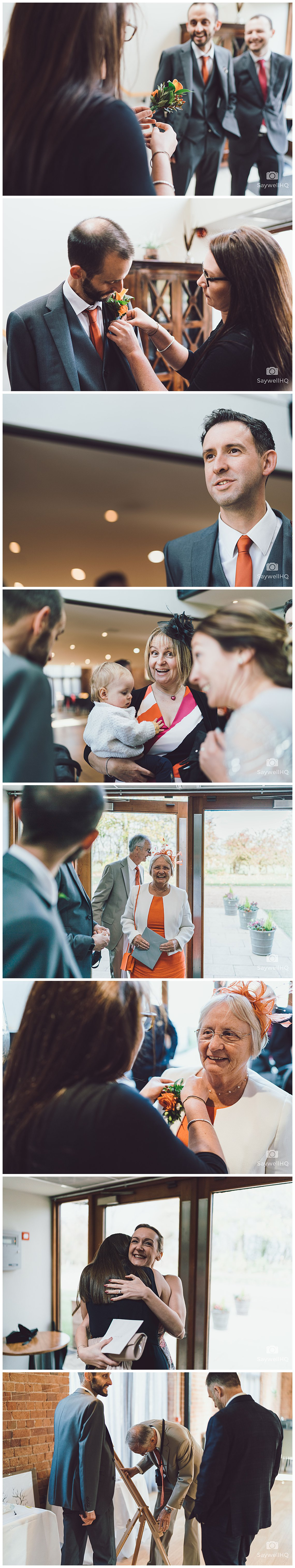 Wedding photography at The Carriage Hall in Nottingham - guests arrive at carriage hall for a wedding