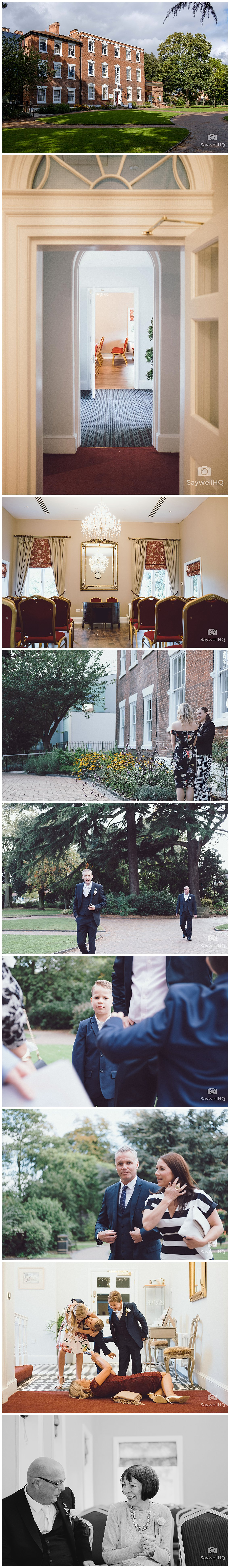 West Bridgford Hall Wedding Photography - venue and guest arrivals