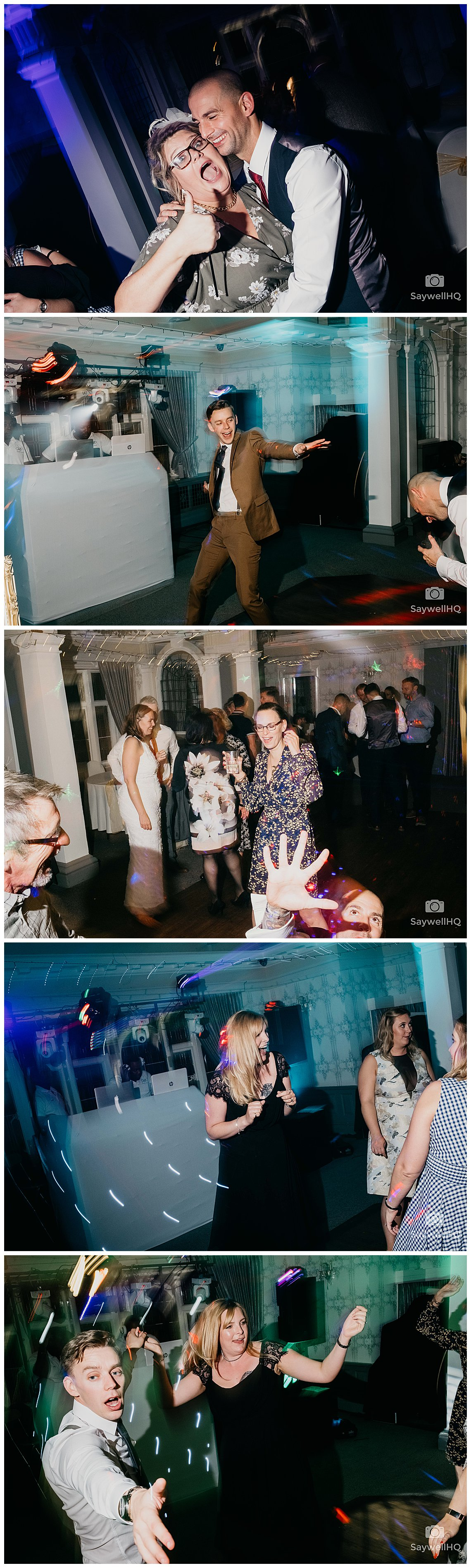 West Bridgford Wedding Photography - wedding guests enjoy the speeches and disco at the embankment pub in nottingham