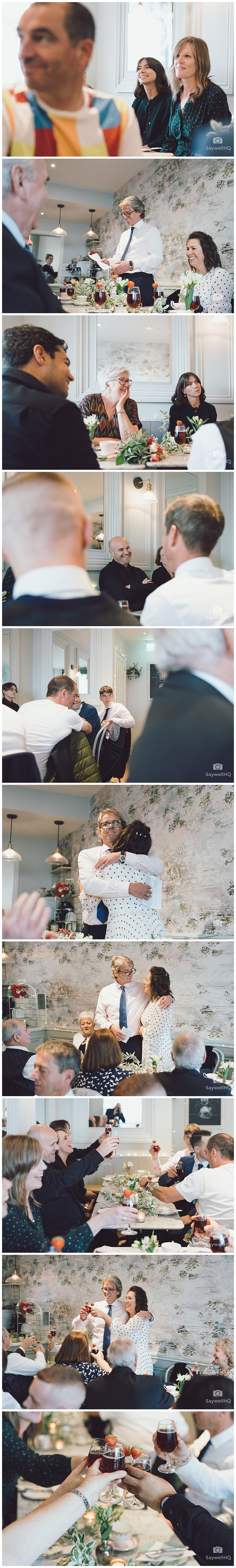 West Bridgford Wedding Photography - white rabbit tea room in west bridgford - groom gives a small speech