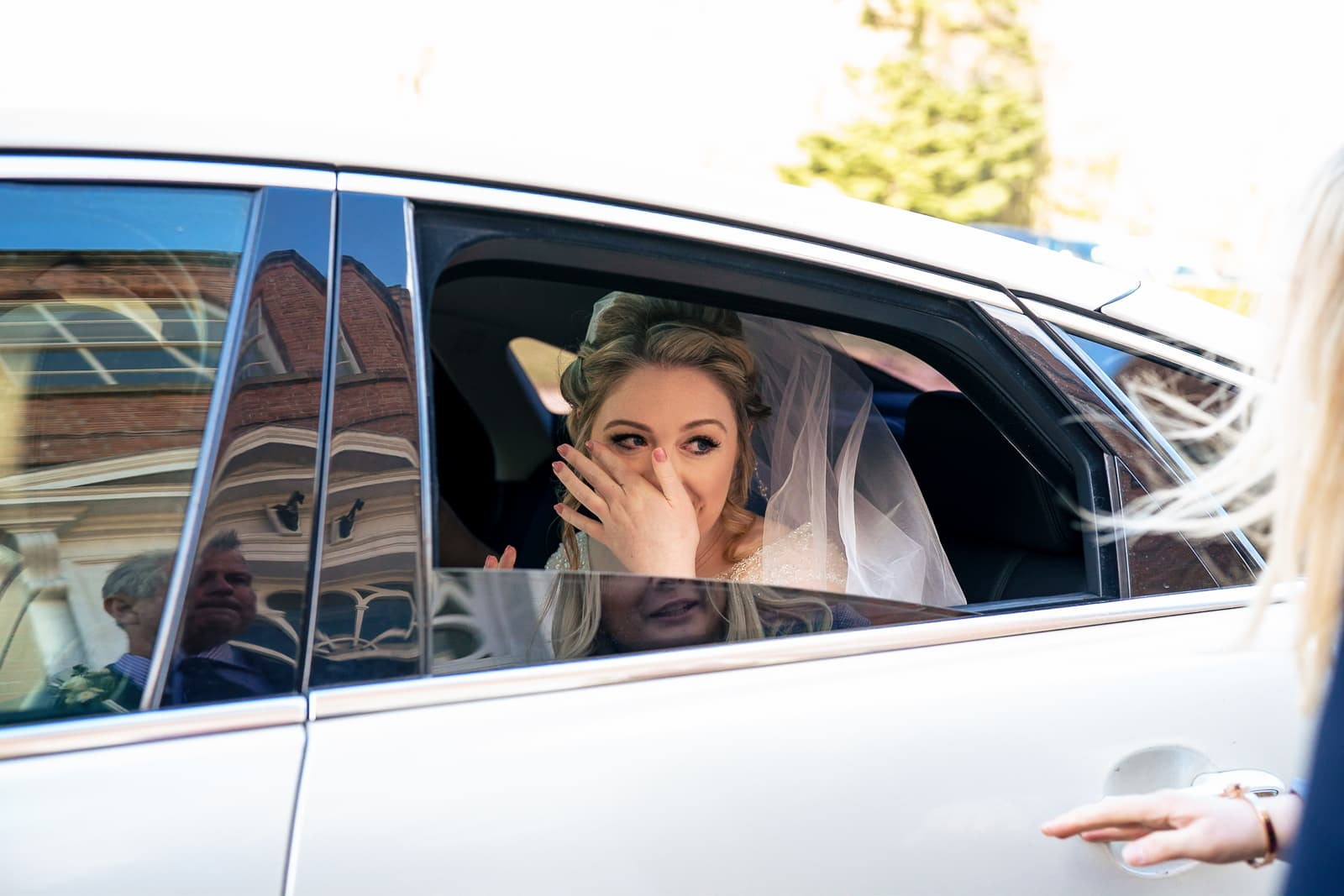 Norwood Park Wedding Photography - Bride arrives for her wedding ceremony at Norwood Park