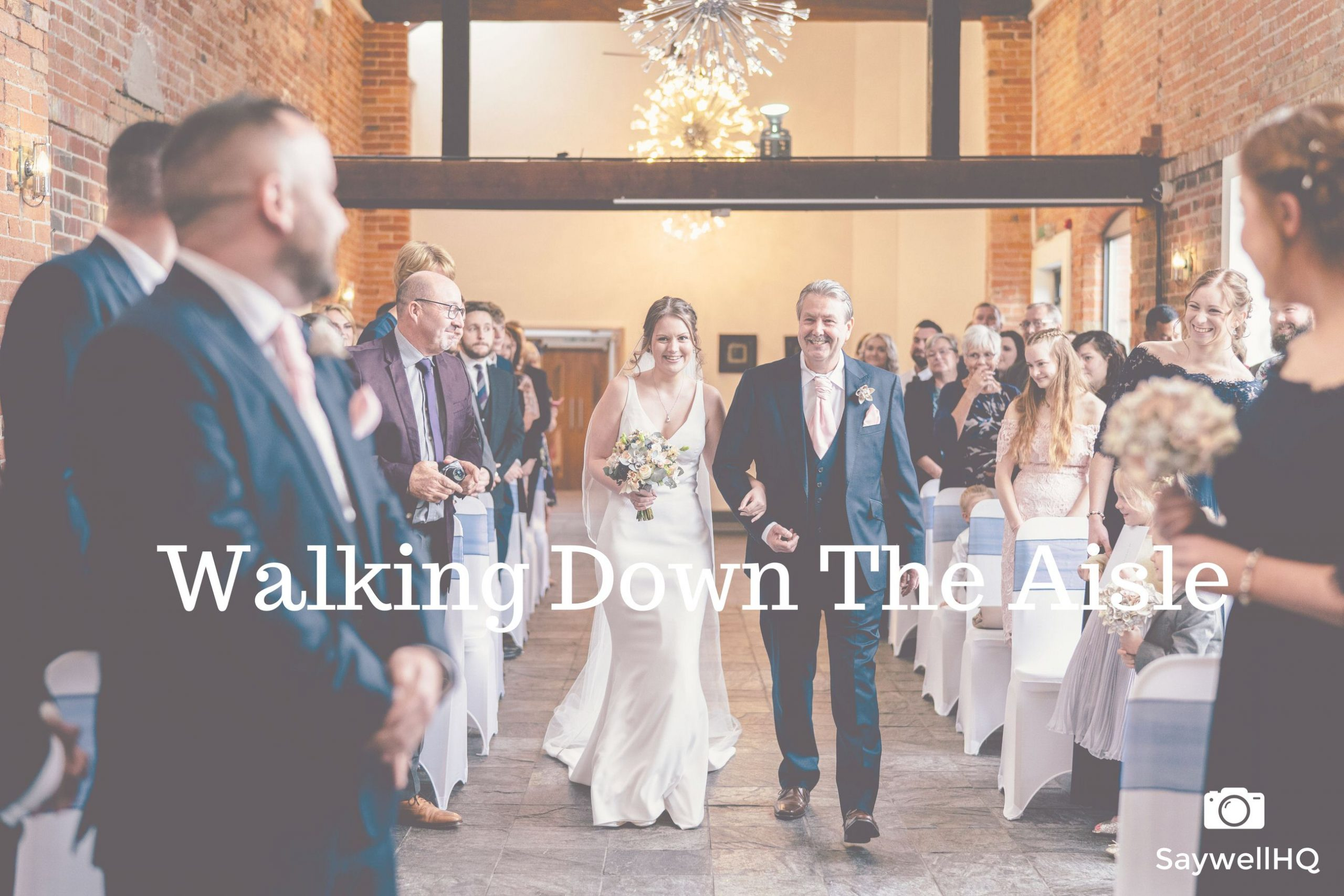 Wedding hints and tips - walking down the aisle