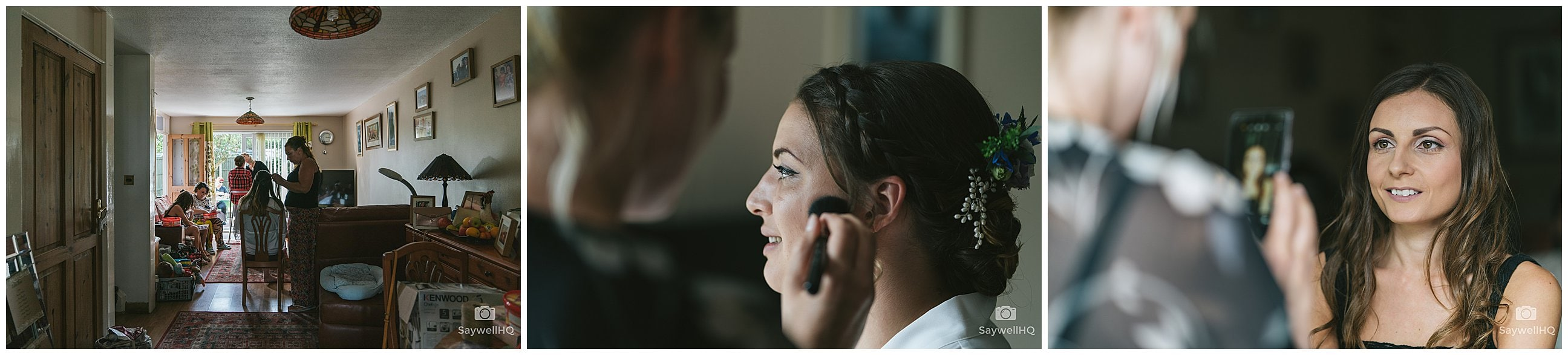 Swancar Farm Wedding Photography - bride and bridesmaids getting ready on the morning of the wedding