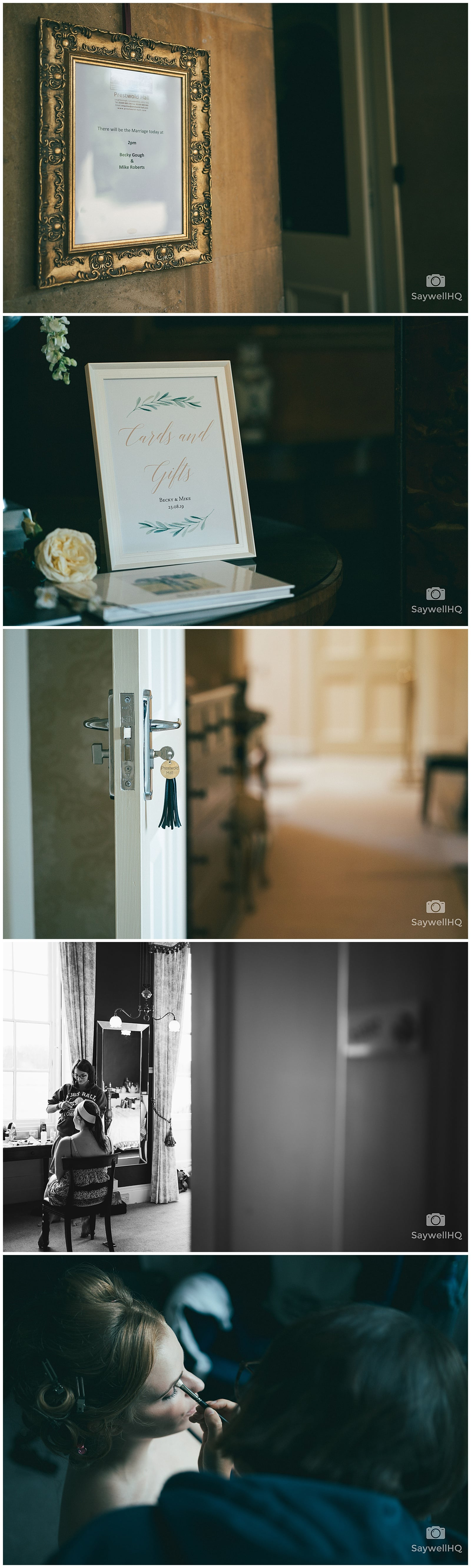 Wedding Photography at Prestwold Hall - bride and her bridesmaids getting ready in the morning of the wedding