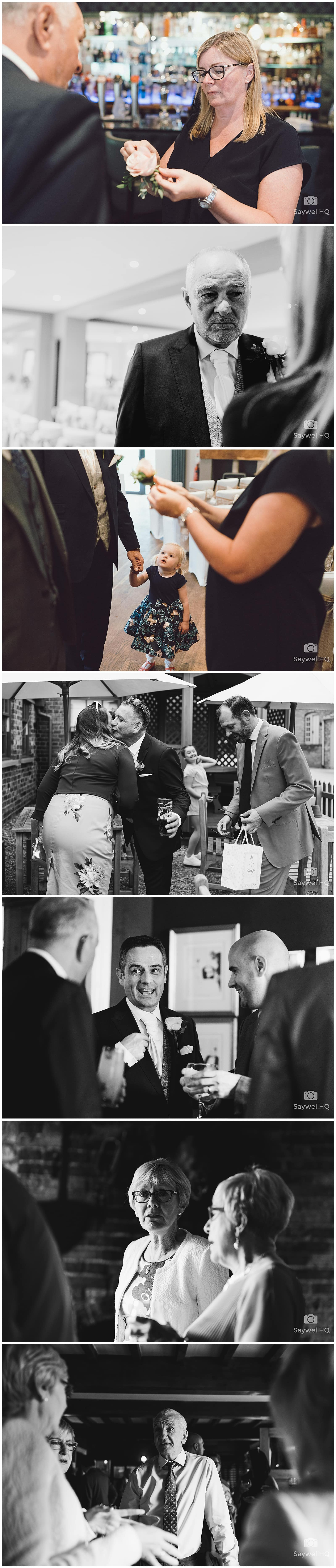 The Chequers Inn Woolsthorpe Wedding Photography - Guest Arrivals