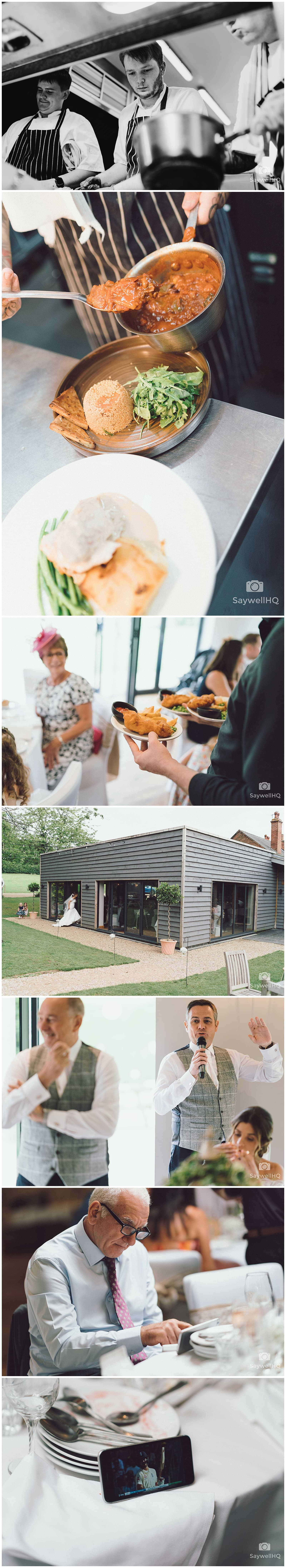 The Chequers Inn Woolsthorpe Wedding Photography - guest reactions to the grooms wedding speech