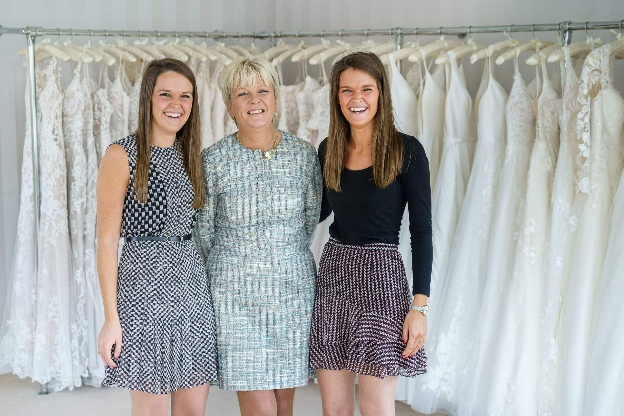 The owners of the best Bridal Shop in Nottingham pose for a group photo