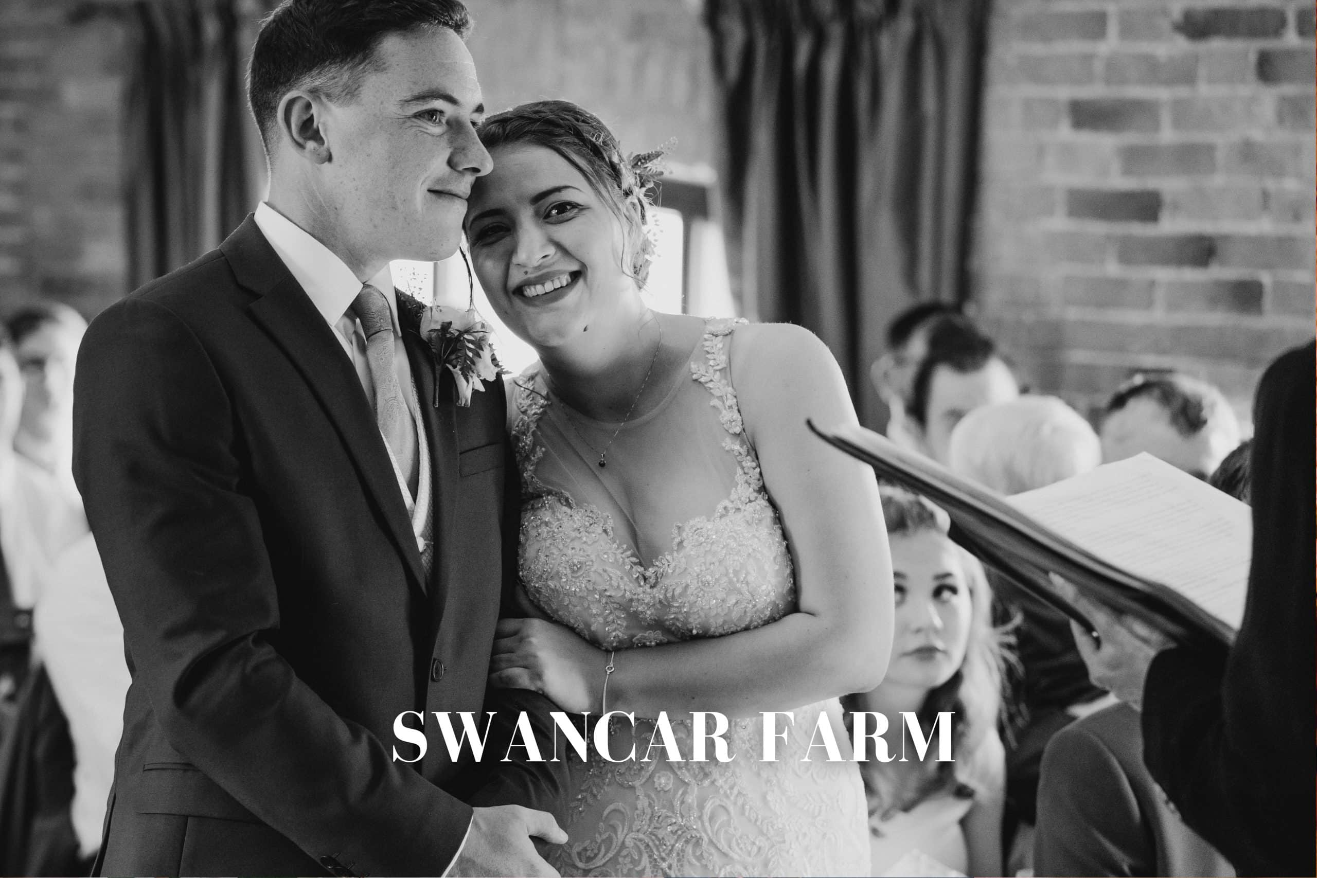 swancar farm wedding photography - bride and groom in love during the wedding ceremony
