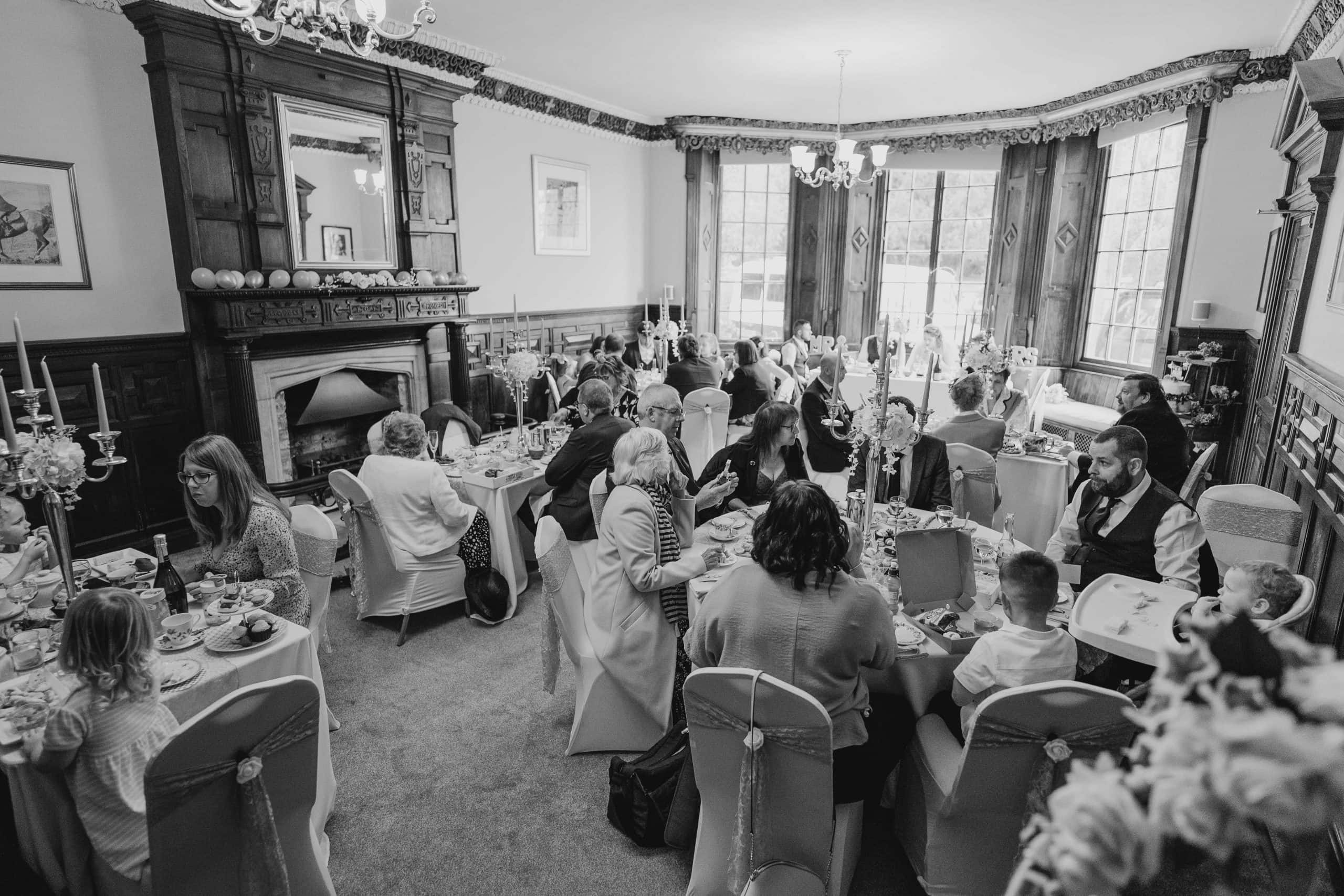 Lincoln wedding photographer - wedding afternoon tea at Skendleby Hall is a magnificent Grade ll listed large country house