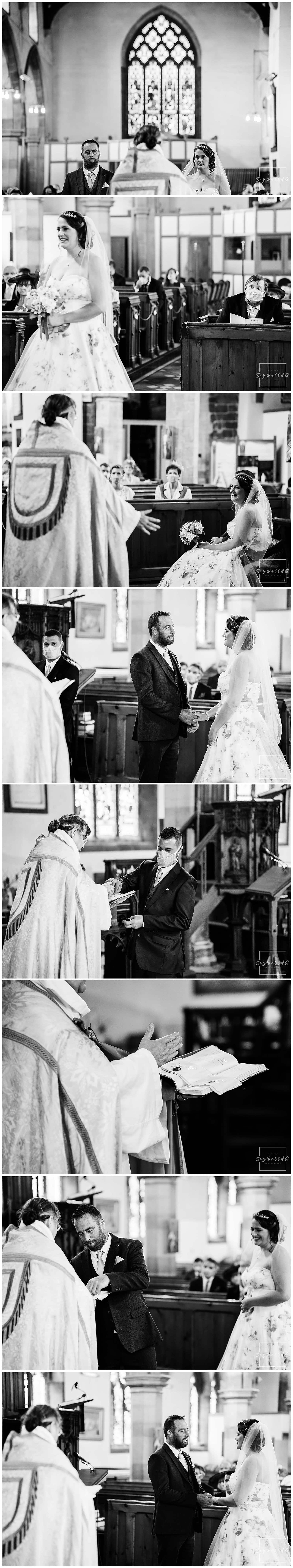 Bride and groom exchange rings during their Spilsby church wedding in Lincolnshire - by Wedding Photographer Andy Saywell of SaywellHQ