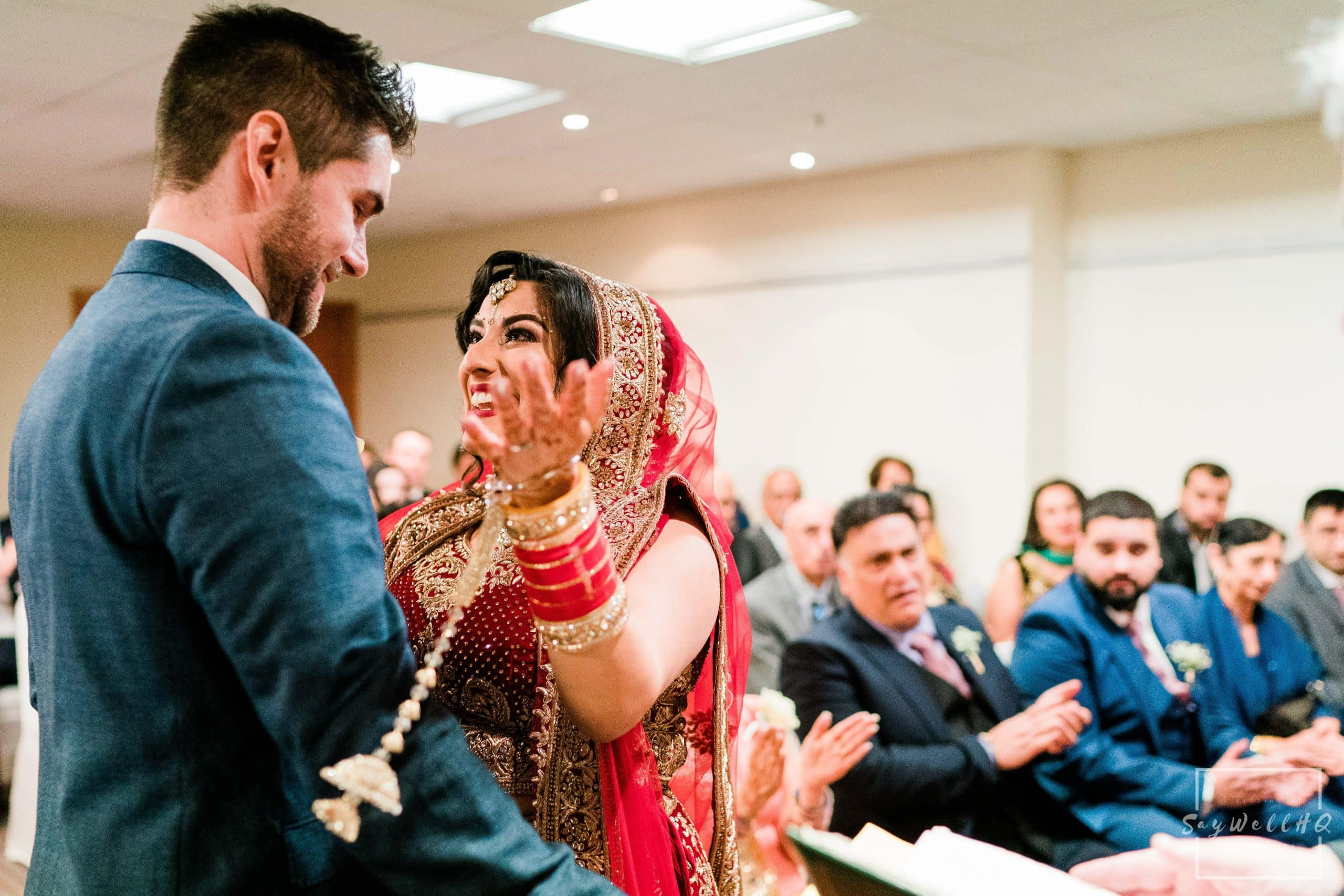 Derby Wedding Photographer - Bride gets emotional after the wedding first kiss.