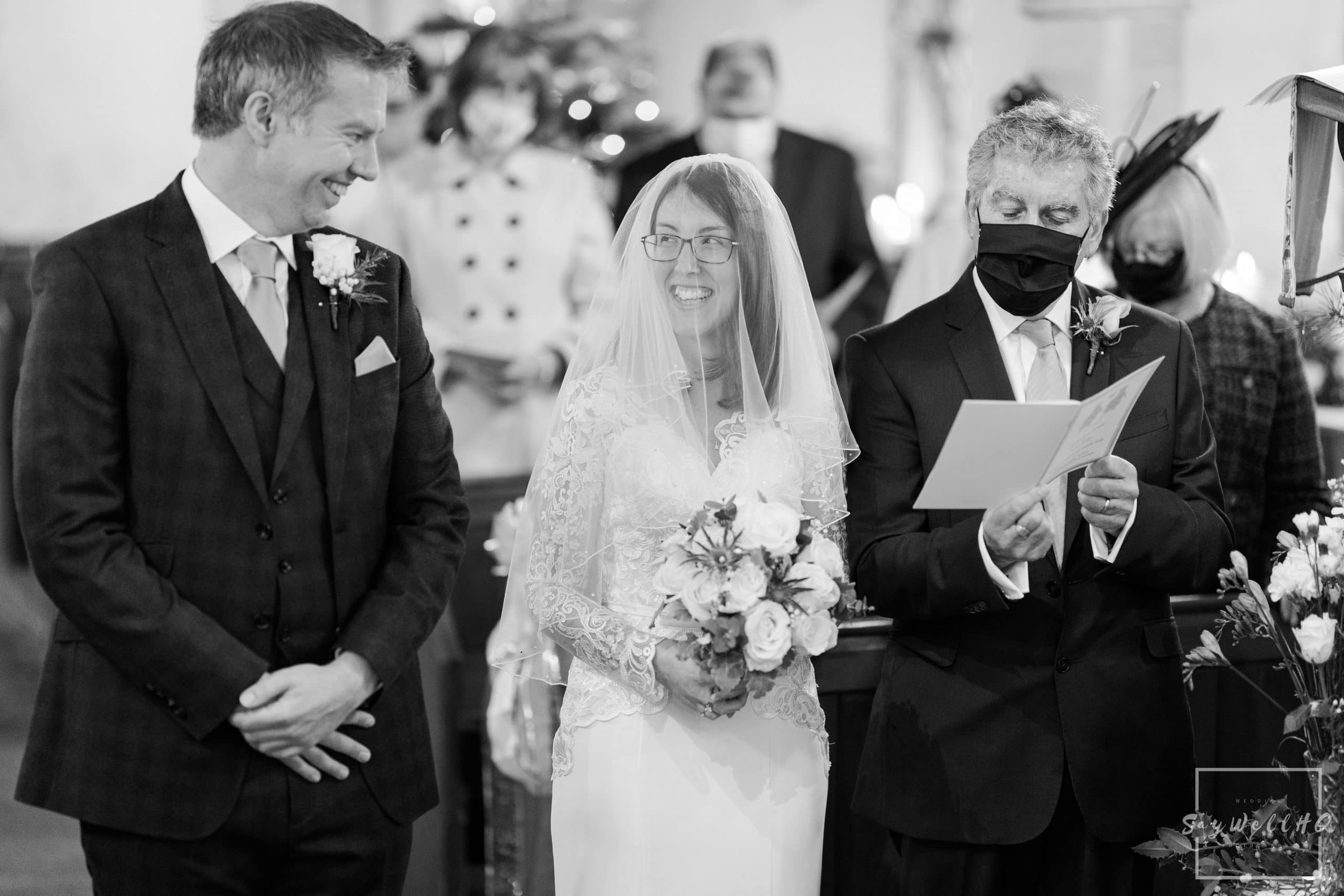 Vale of Belvoir Wedding Photography - Bride and groom see each other for the first time on their wedding day