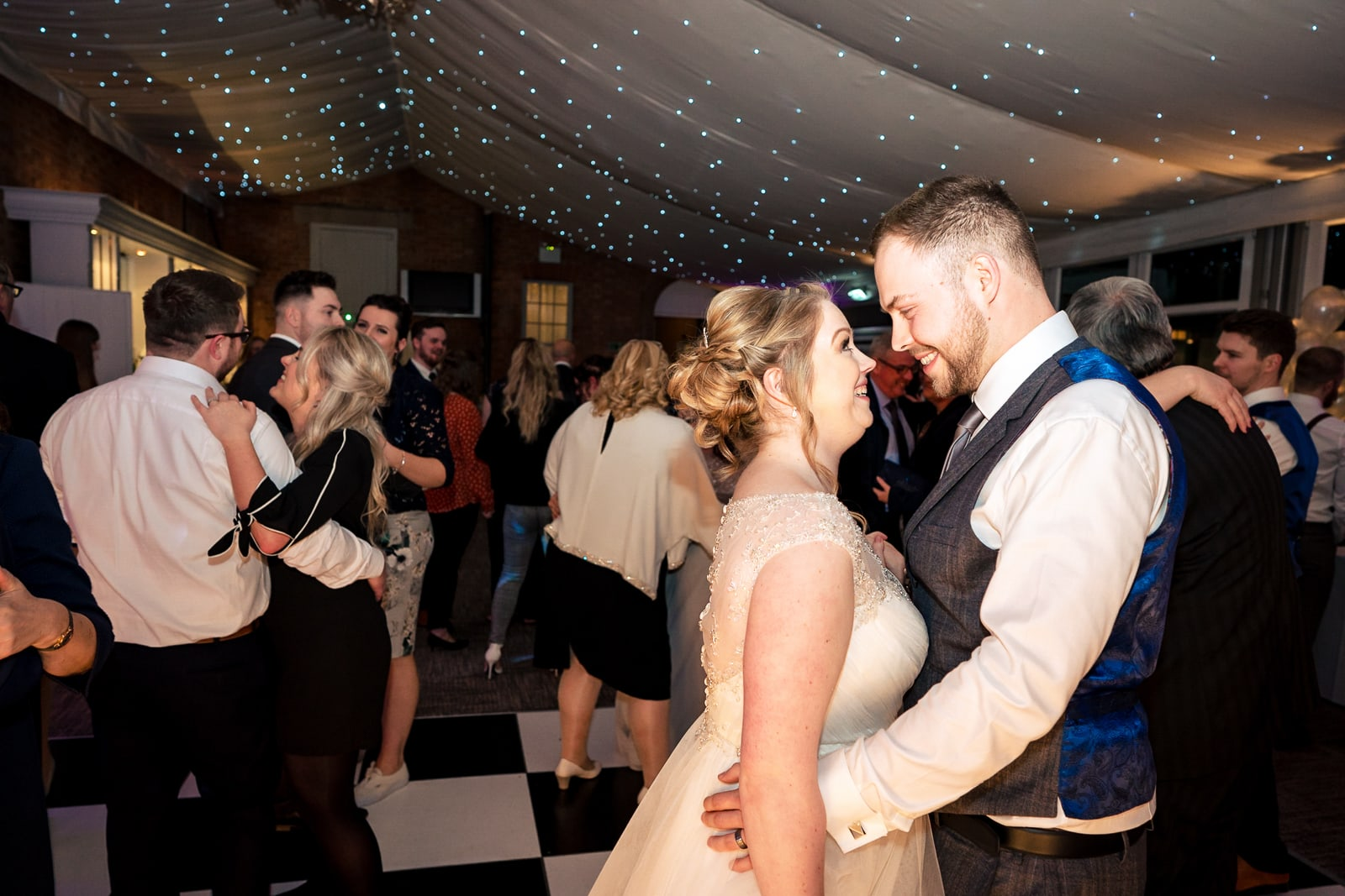 Norwood Park Wedding Photography - Wedding first dance at disco