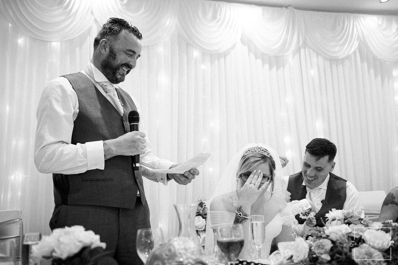 White Hart Inn Wedding Photography - Embarrasing wedding speeches by the father of the Bride