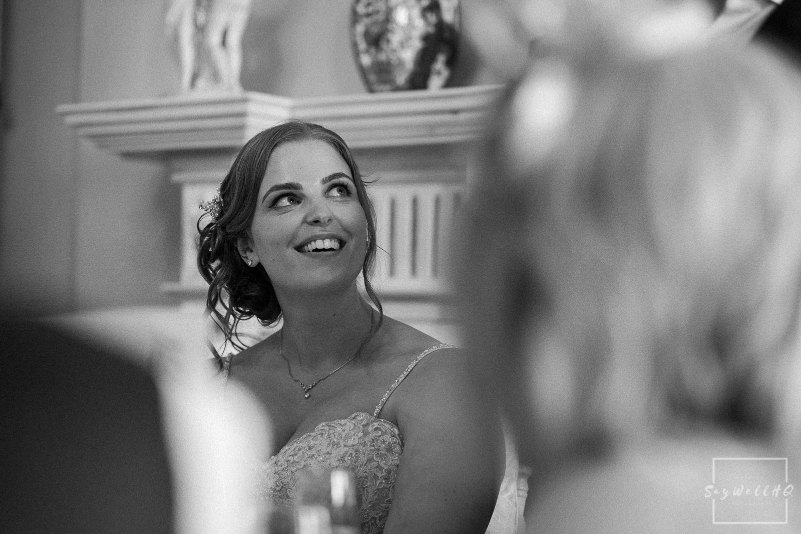 Prestwold Hall Wedding Photography - wedding speches in the main room at Prestwold Hall