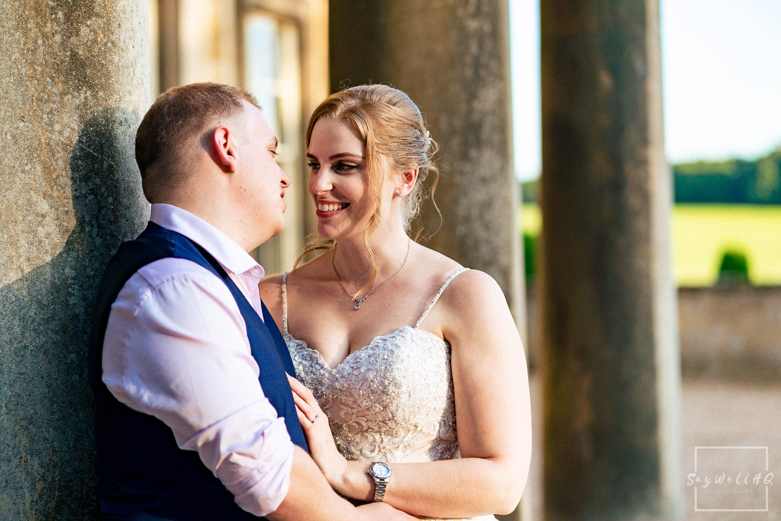 Prestwold Hall Wedding Photography - Bride and Groom portraits and wedding formals at Prestwold Hall