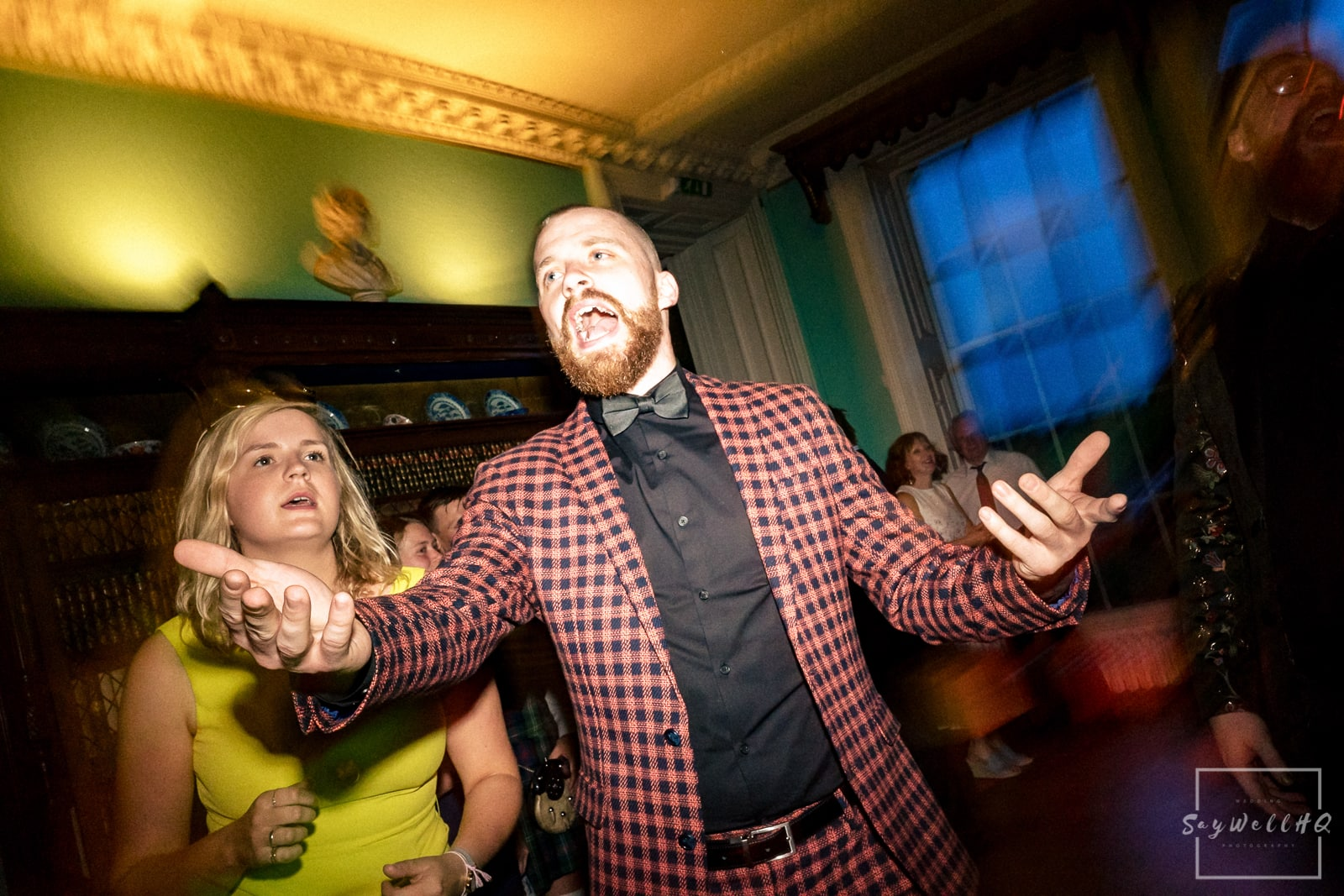 Prestwold Hall Wedding Photography - wedding first dance and live band at Prestwold Hall
