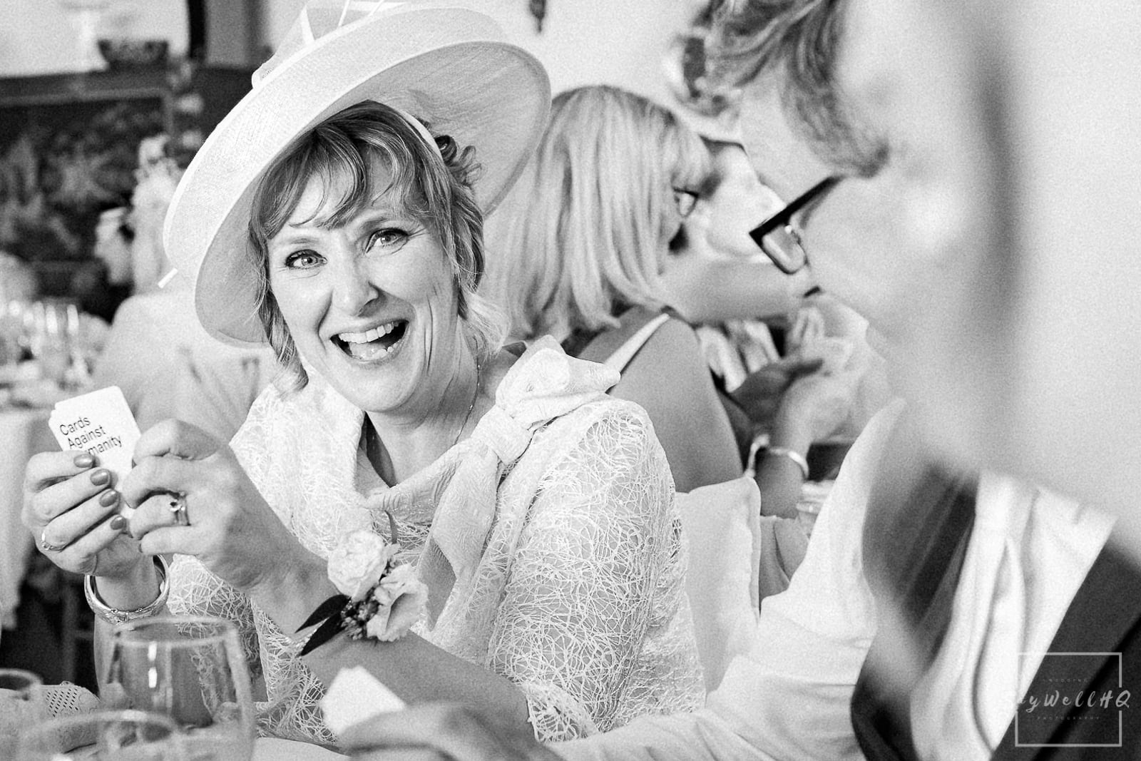 Prestwold Hall Wedding Photography - Wedding games with mother of the bride