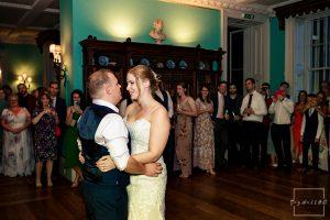 Prestwold Hall Wedding Photography – Bride and Groom first dance