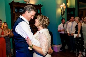 Prestwold Hall Wedding Photography – Parents of the Bride enjoy the first dance