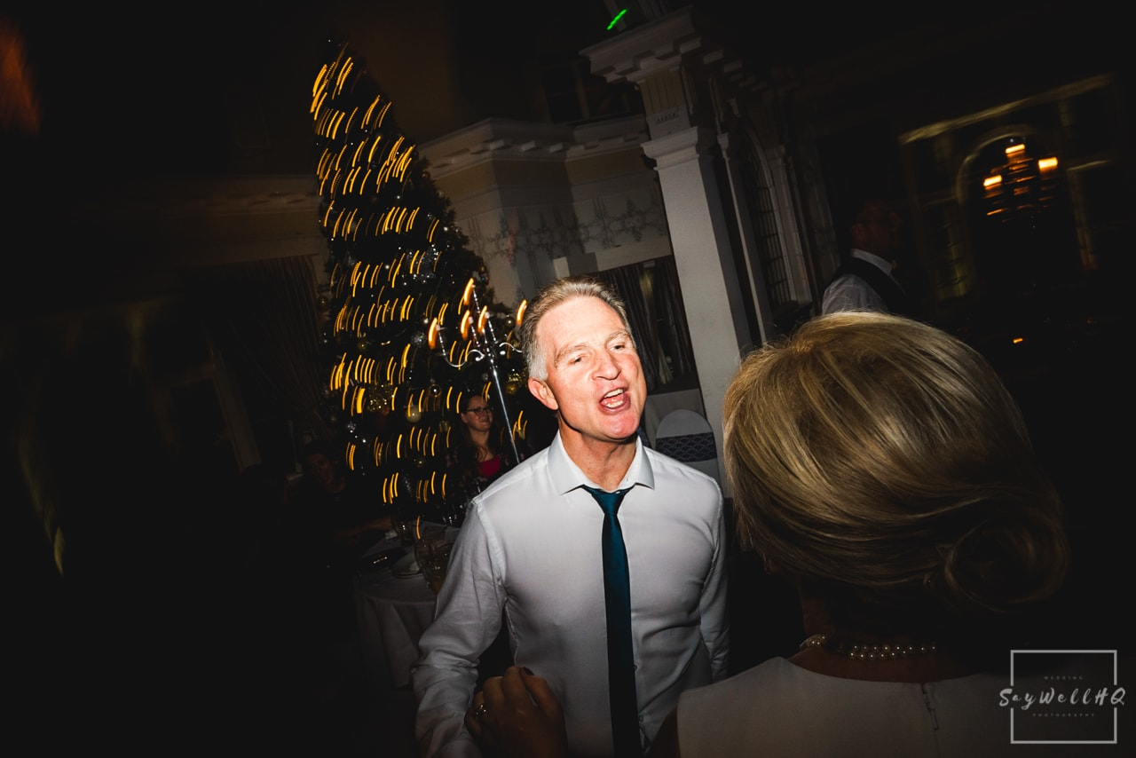 The Embankment Pub Nottingham Wedding Photography + Wedding guests enjoy the wedding disco