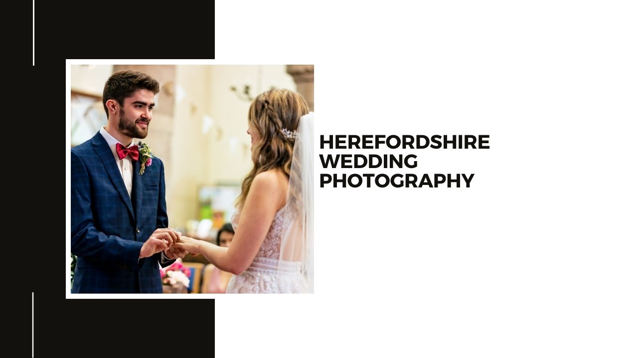 Hereford Church wedding photography+bride and groom exchanging rings