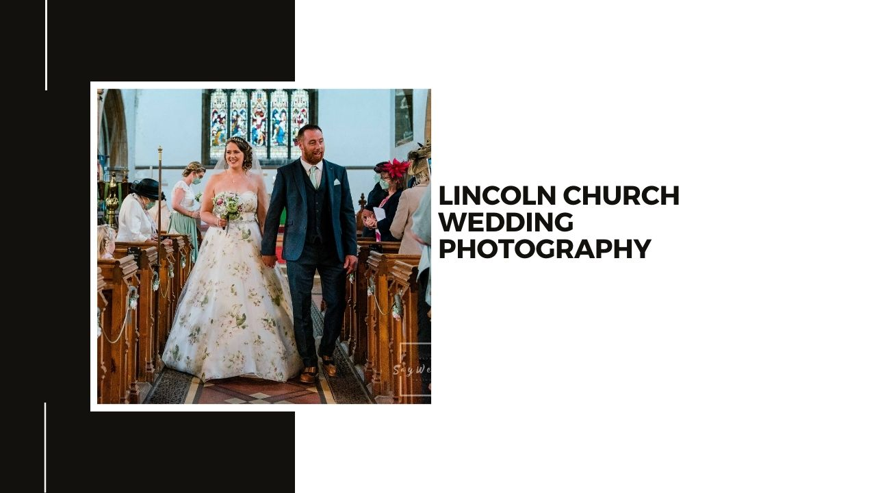 Lincoln Church wedding photography - bride and groom walking down the aisle after their wedding ceremony