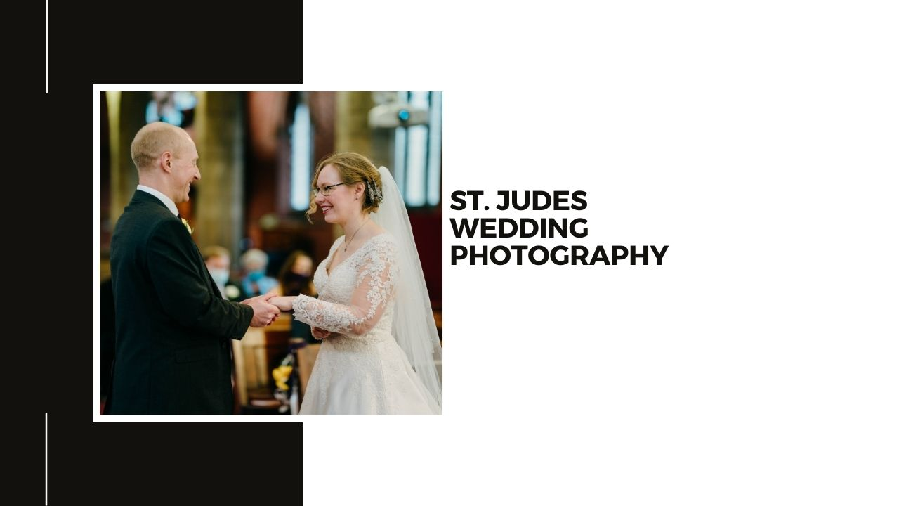 Nottingham Church Wedding Photography - Bride and groom exchanging rings at a wedding at St Judes Church in Mapperley Nottingham