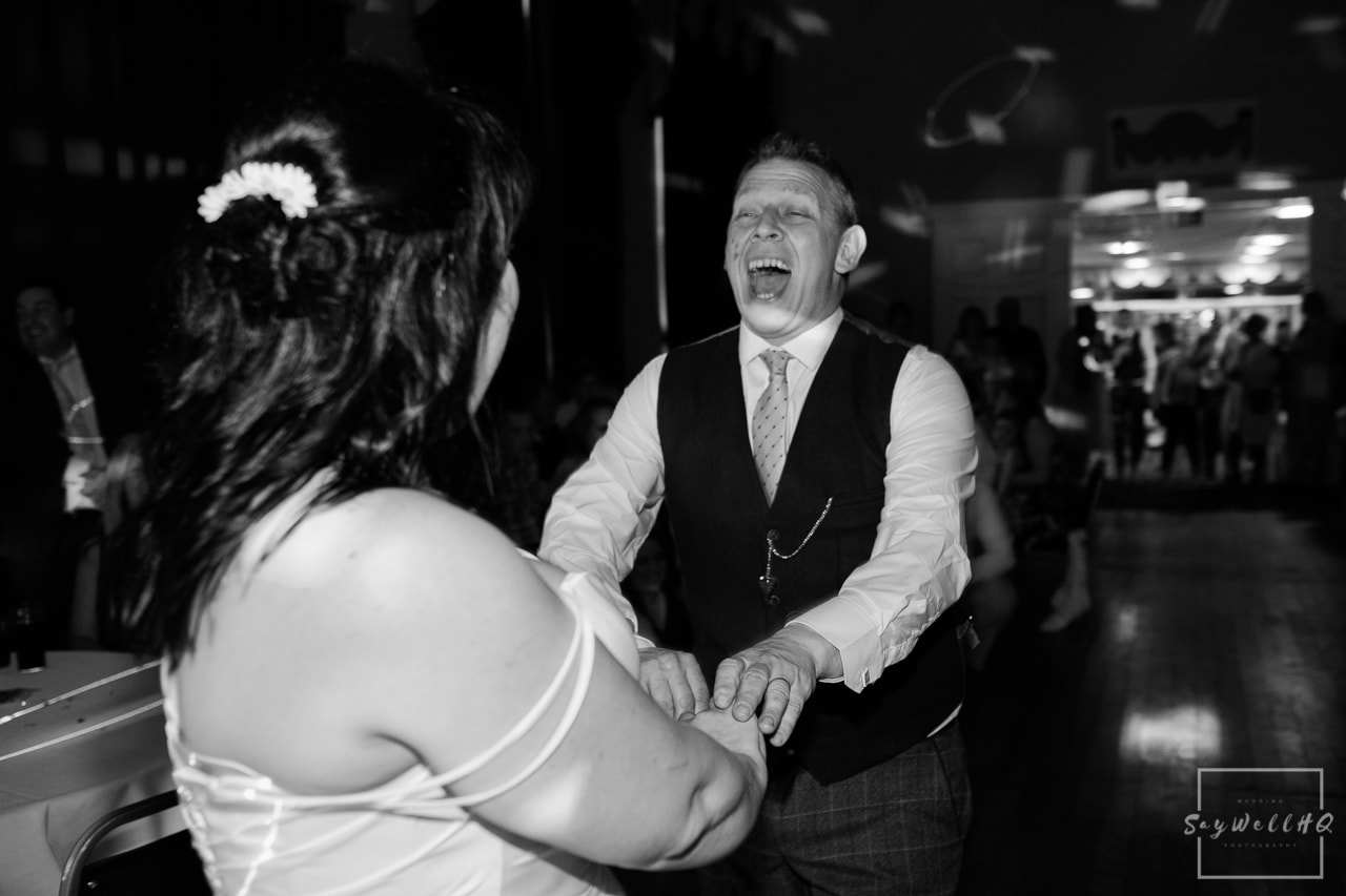 Nottingham Wedding Photography - Bride and groom dancing during the wedding first dance