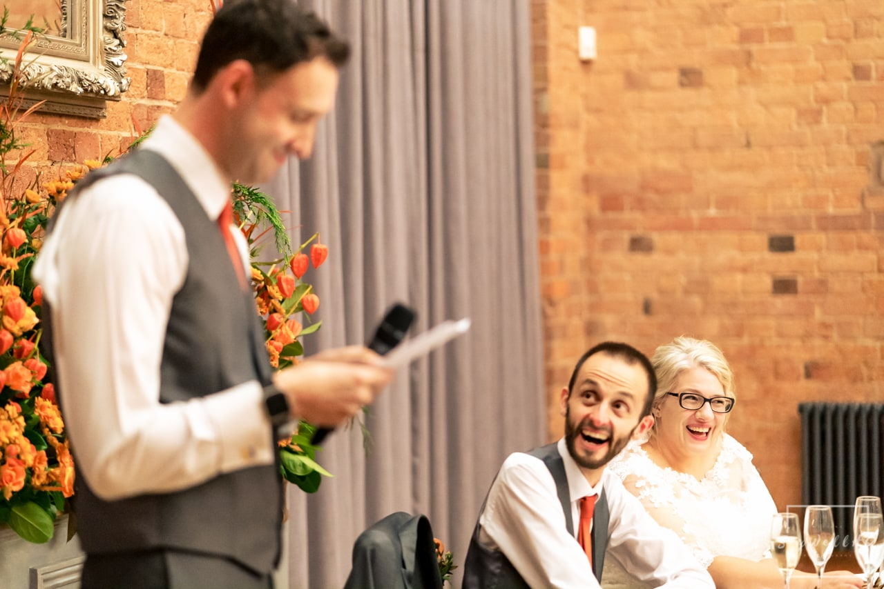 The Carriage Hall Wedding Photography + Carriage Hall Wedding Photographer + wedding guest reactions to the best man wedding speech