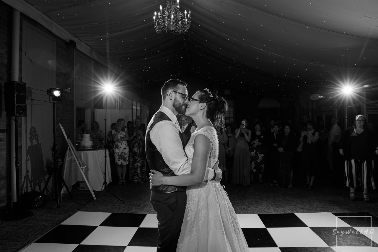 Norwood Park Wedding Photography + Norwood Park Wedding Photographer + bride and groom dance during their wedding first dance