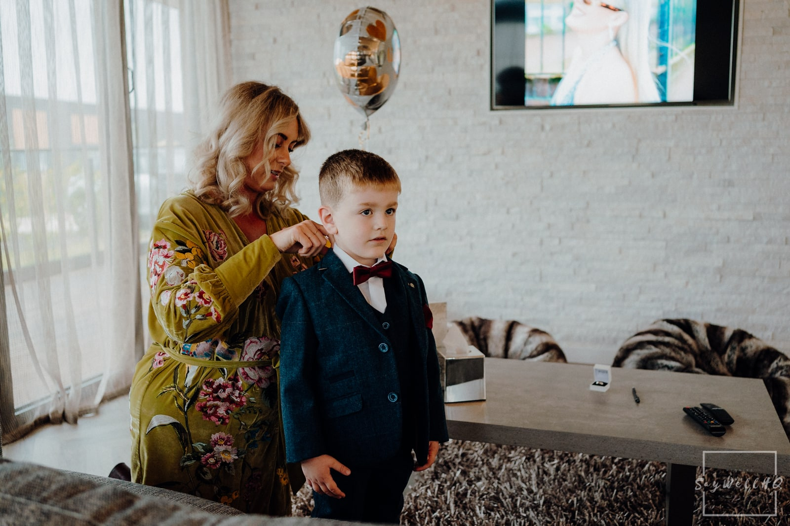 Goosedale Wedding Photography + Goosedale Wedding Photographer + Grooms son getting ready on the morning of his Dad's wedding