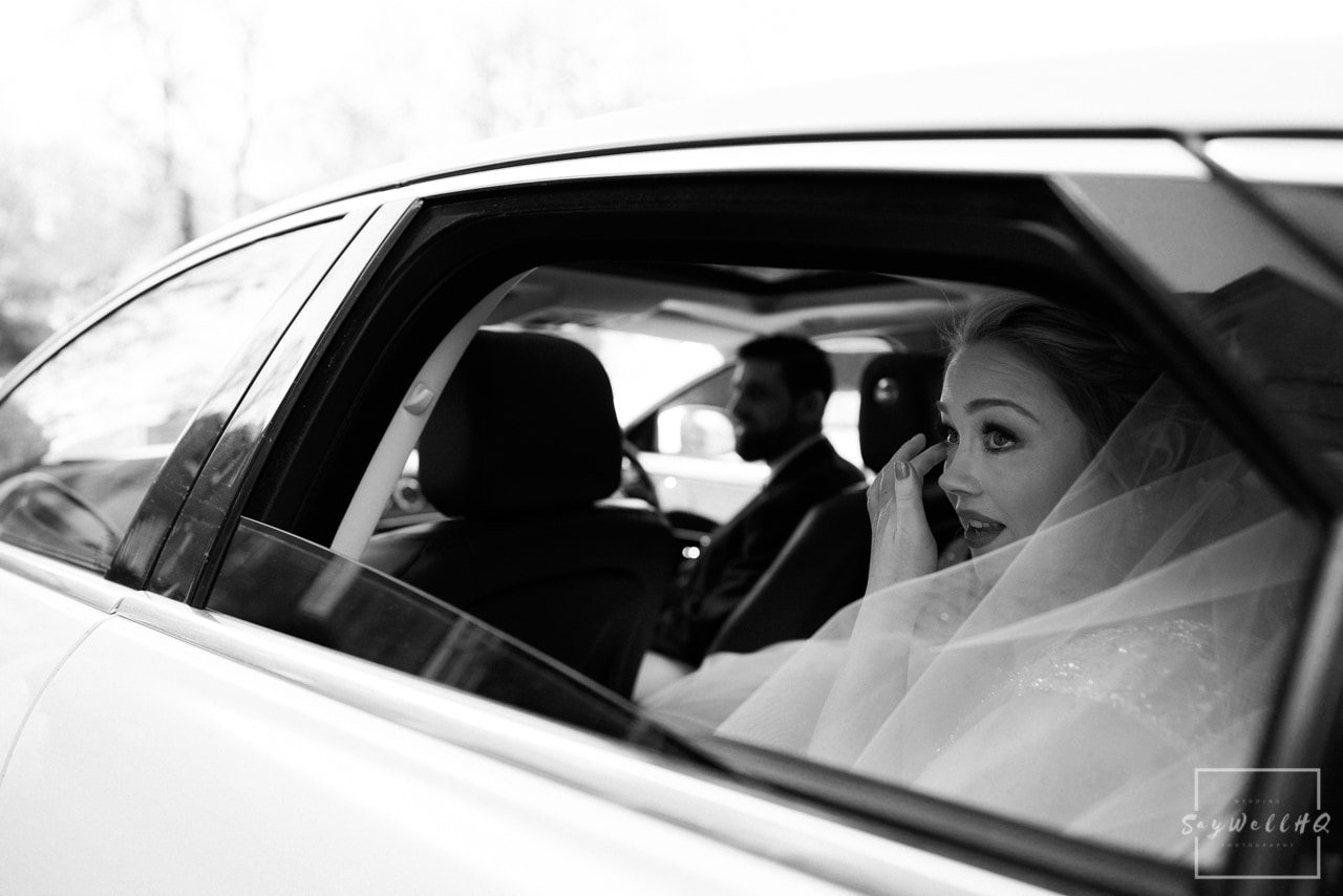 Norwood Park Wedding Photography + Bride arrives in her wedding car for her wedding at Norwood Park