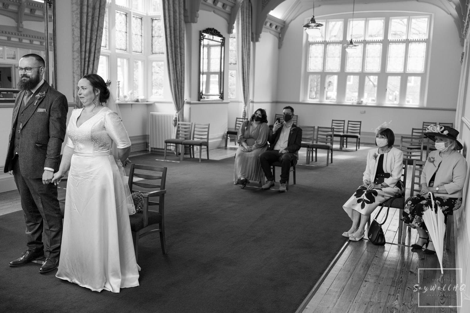 Newark Wedding Photography + Newark Wedding Photographer + bride and groom's Mum's watching on during the wedding ceremony