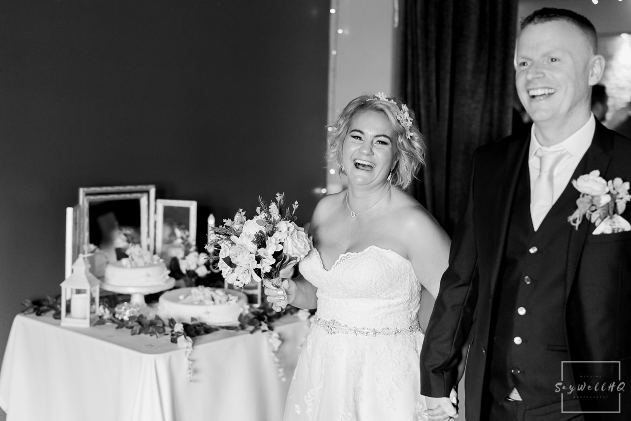 Brewhouse and Kitchen Wedding Photography + The Riverside Gallery Wedding Photographer  + bride and groom walking down the aisle as husband and wife