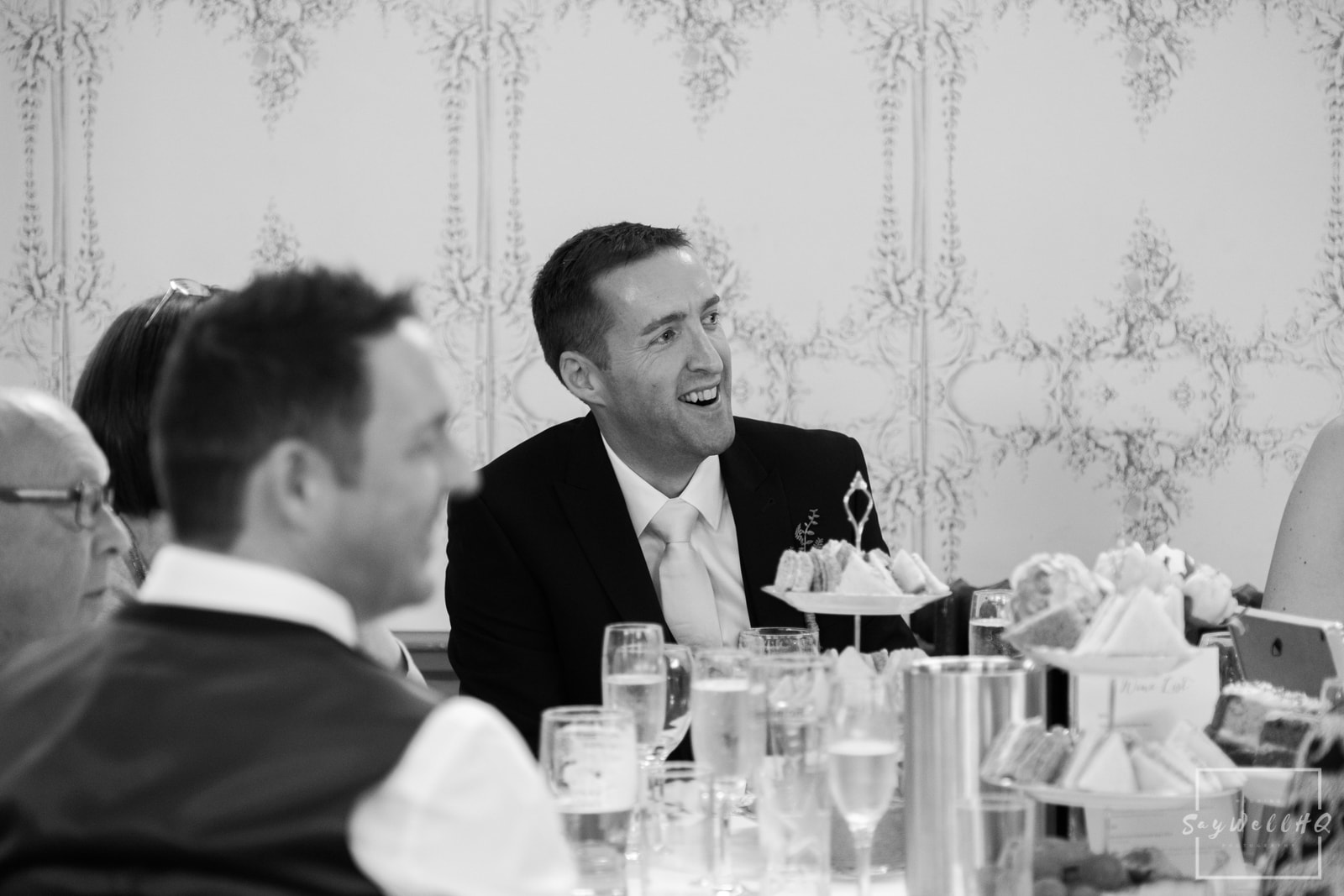 West Bridgford Wedding Photography + Bridgford Hall Wedding Photographer + guest reactions to the best mans wedding speech