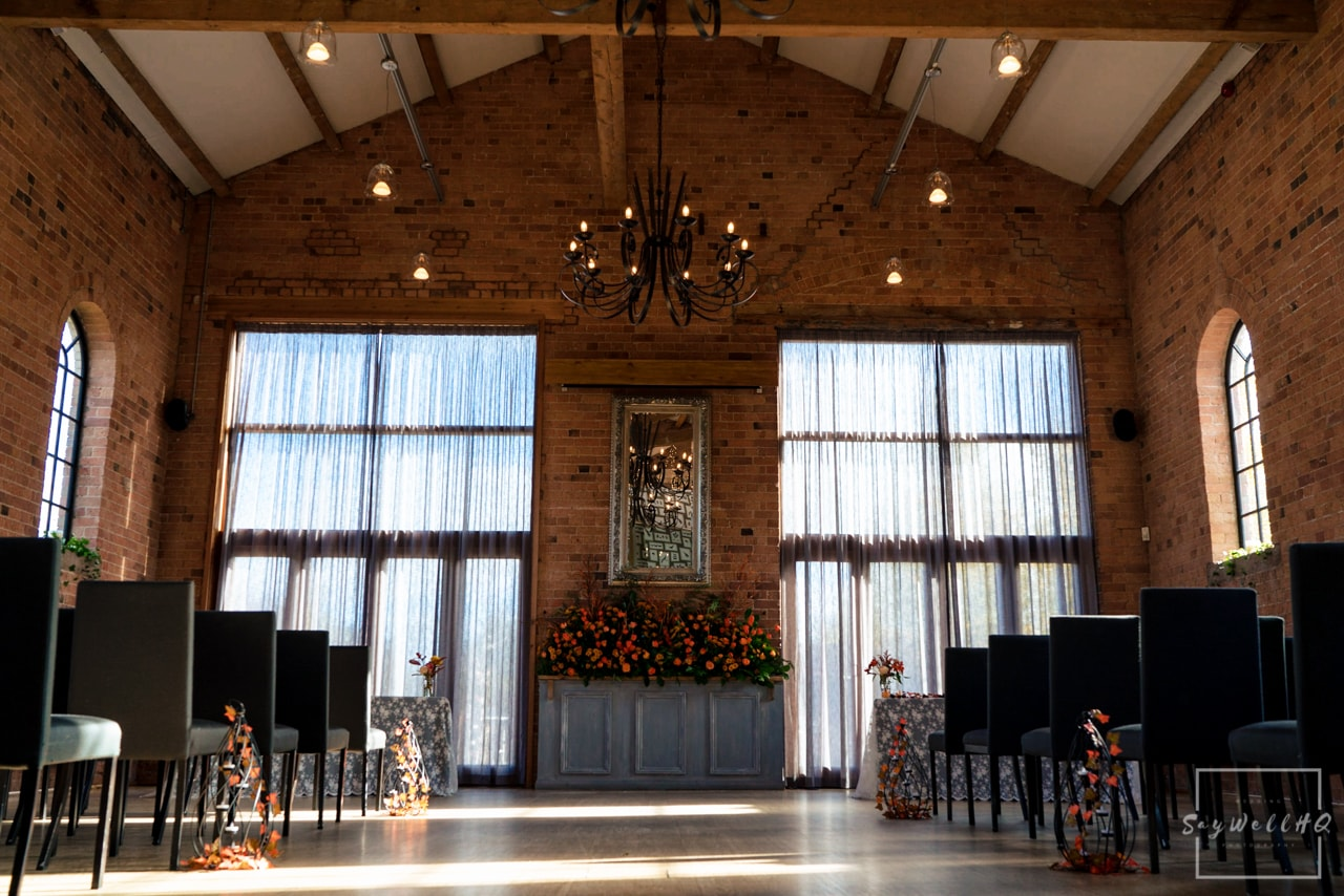 The Carriage Hall Wedding Photography + Carriage Hall Wedding Photographer + wedding venue photos showing the wedding venue and the big hall
