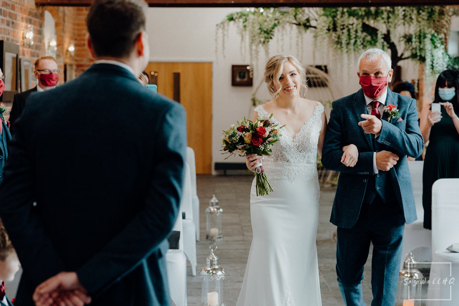 Goosedale Wedding Photography + Goosedale Wedding Photographer + bride and her father walking down the aisle at a Goosedale wedding